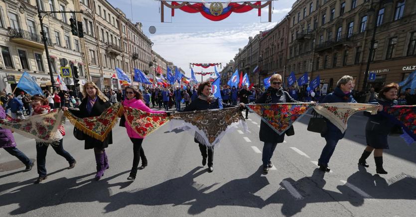 La festa del Primo Maggio a SanPietroburgo