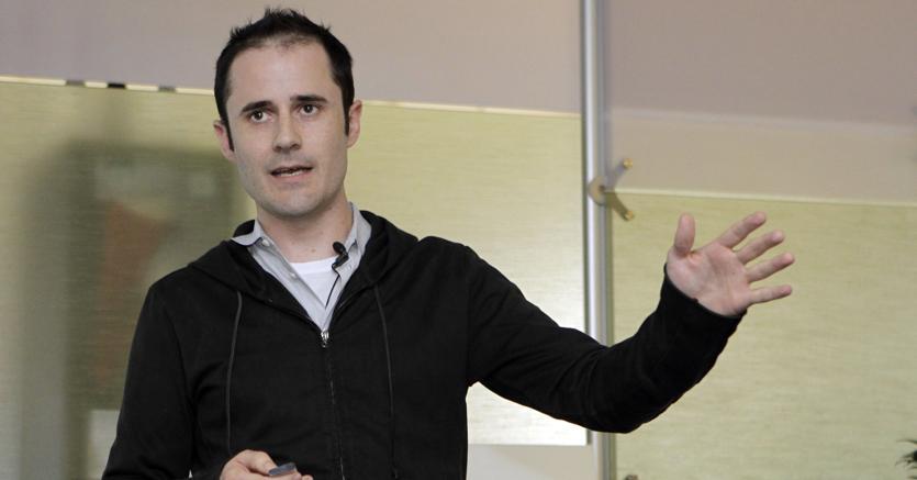 Evan Williams, uno dei fondatori di Twitter (AP Photo/Marcio Jose Sanchez)