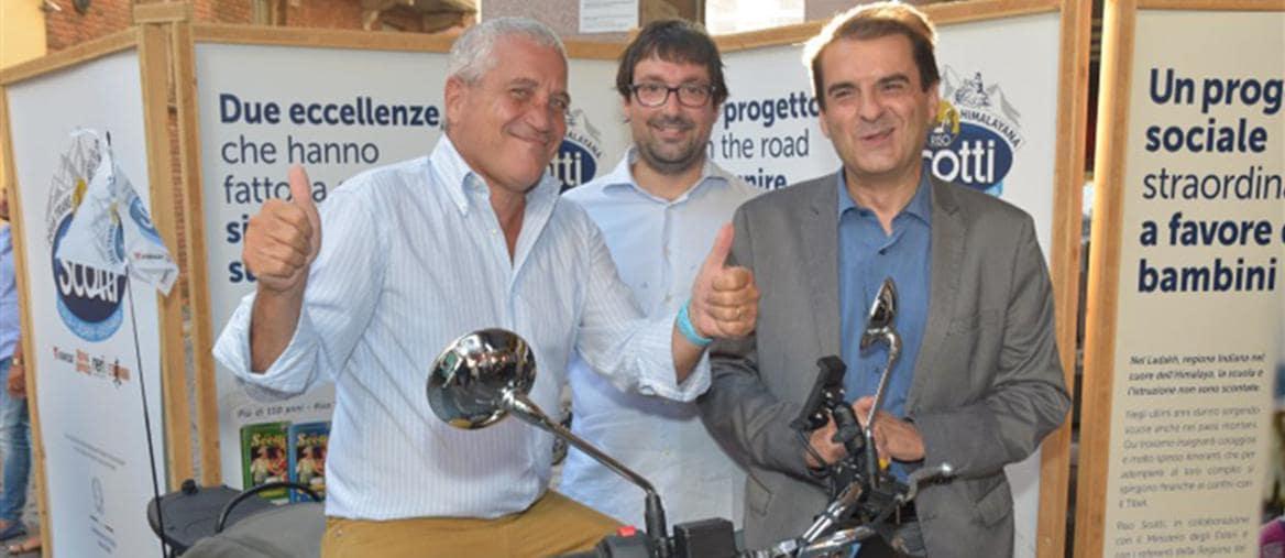 A sinistra Dario Scotti presidente di Riso Scotti