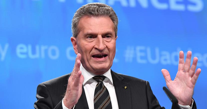 Günther Oettinger , commissario europeo al Bilancio