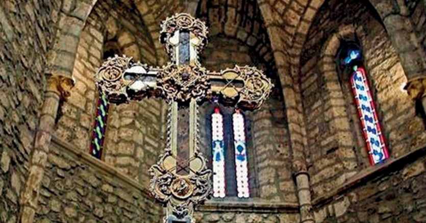 La «croce santa» del santuario di Santo Toribio de Liébana