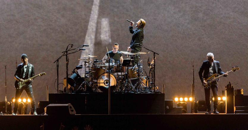 Gli U2 live (Olycom)