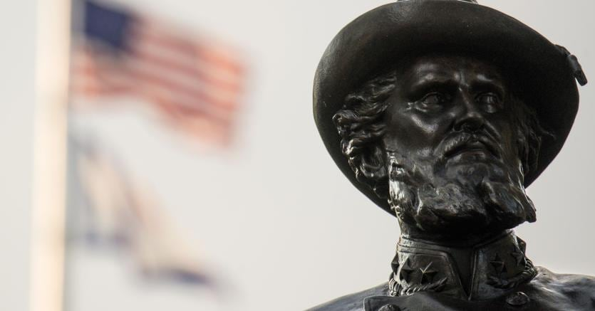 "Statua del generale confederato Thomas ""Stonewall"" Jackson, a Charleston (Getty Images/Afp)"