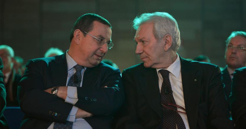 L'a.d. di Banco Bpm, Giuseppe Castagna, e il presidente del Comitato esecutivo, Pier Francesco Saviotti