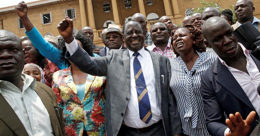 Il leader dell'opposizione kenyana Raila Odinga, dopo la sentenza della Corte Suprema (Reuters)