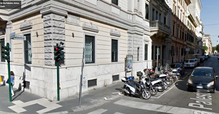 Un'immagine di via Palestro, in zona stazione Termini, nei pressi della quale è avvenuto lo stupro della turista finlandese  (Ansa)