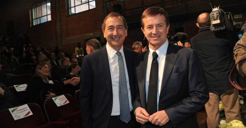 Giuseppe Sala, sindaco di Milano, e Giorgio Gori, sindaco di Bergamo