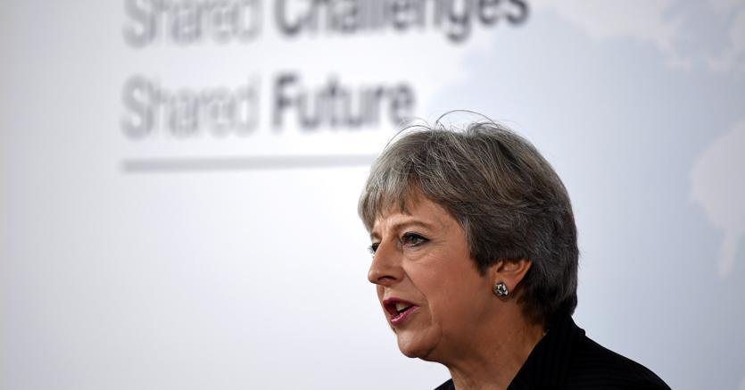 Theresa May durante il discorso su Brexit a Firenze (Reuters)