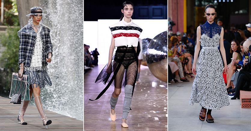 Sfilate di Chanel, Moncler e Miu Miu a Parigi - collezioni PE 2018.