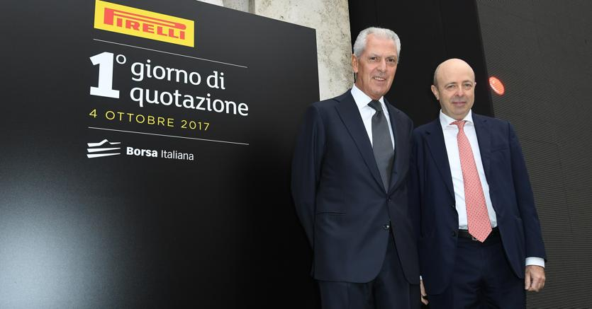 Marco Tronchetti Provera e Raffaele Jerusalmi. (Ufficio Stampa Pirelli)