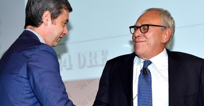 Il ministro della Giustizia Andrea Orlando  e il procuratore capo di Milano Francesco Greco (Ansa)