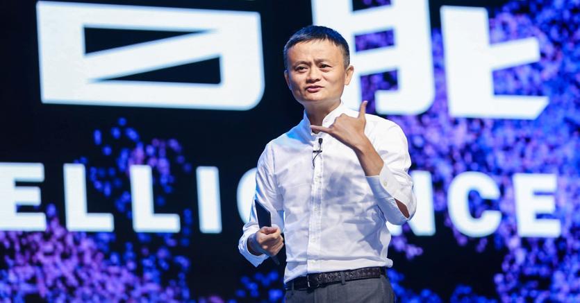 Jack Ma, presidente di Alibaba Group, durante la Computing Conference ad Hangzhou (Reuters)