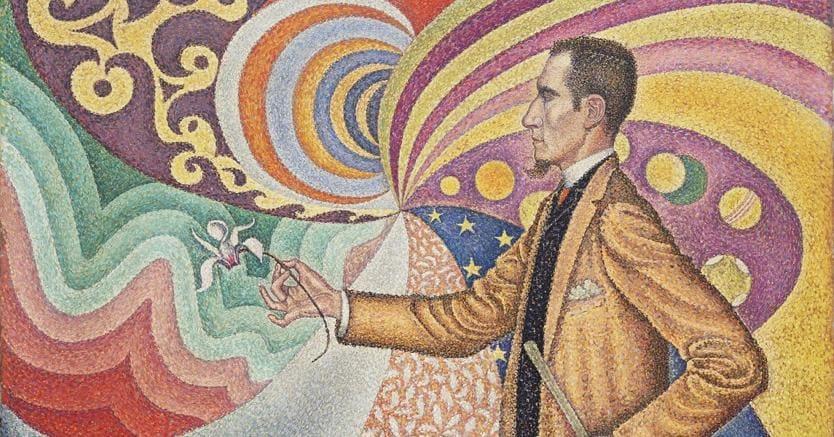 Paul Signac «Ritratto di FelixFenéon», quadro del 1890