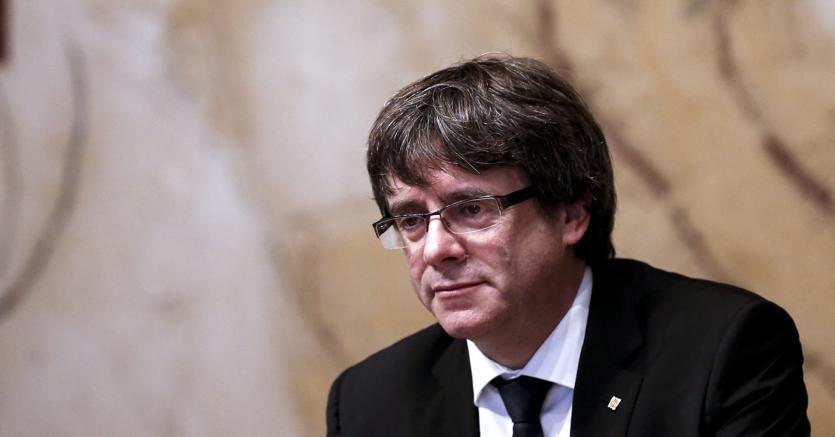 Il presidente della Generalitat, Carles Puigdemont