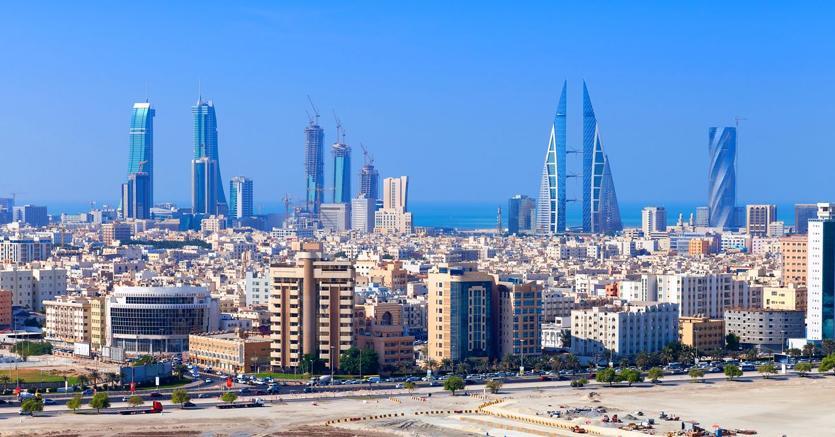 La città di Manama in Bahrein