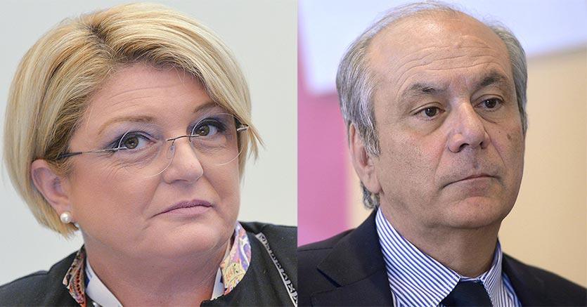 Da sinistra, Marina Calderone e Armando Zambrano