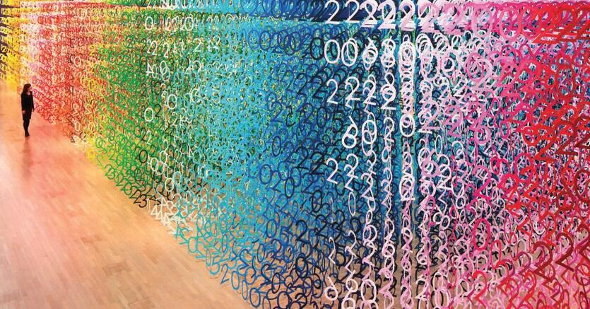 «Forest of Numbers».L'installazione  di  Emmanuelle Moureaux si trova al National Art Center di Tokyo