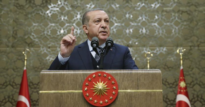 Il presidente Erdogan