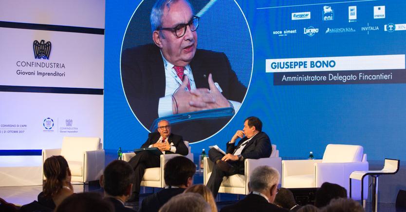 Giuseppe Bono, ad Fincantieri, e Guido Gentili, il direttore de Il Sole 24 Ore
