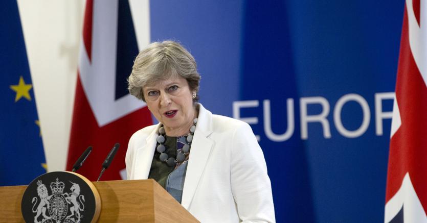 Il Primo ministro britannico, Theresa May (Afp)