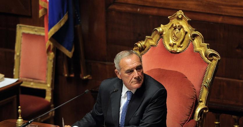Il presidente del Senato Pietro Grasso lascia il Pd
