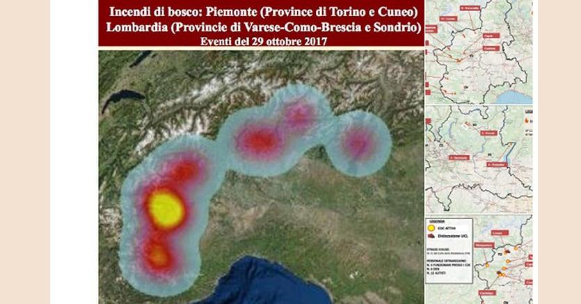 Emergenza incendi in Piemonte, ecco cosa sta succedendo