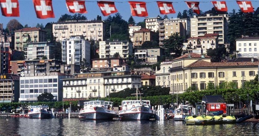 Una veduta di Lugano