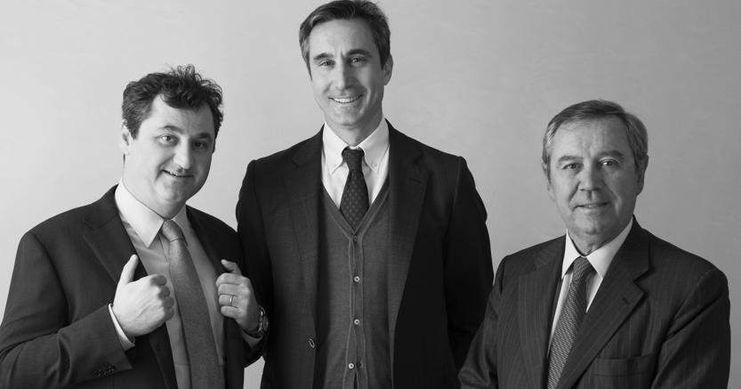 Luca Marzotto, Ettore Nicoletto e Gaetano Marzotto