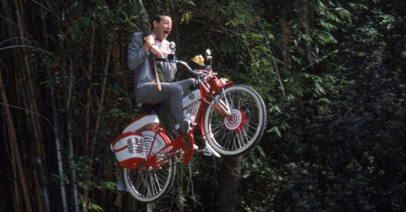 98814a0d164 Incidenti in bici. Una scena del film «Pee-wee s Big Adventure» di