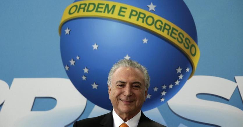 Il presidente del Brasile Michel Temer (Epa)