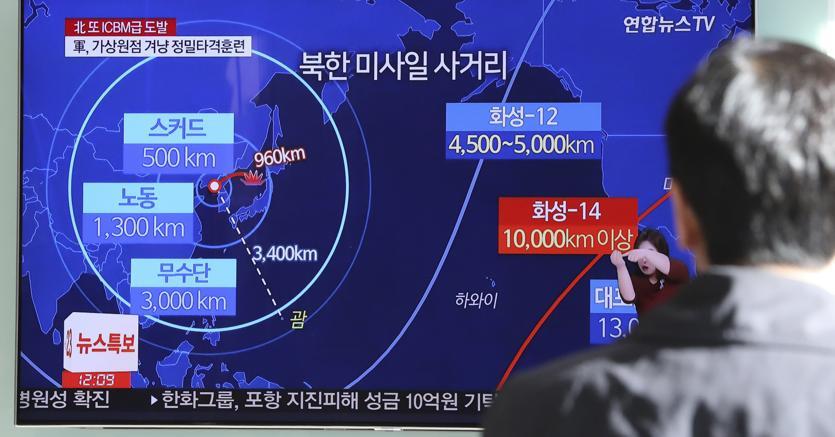 Corea Nord lancia missile balistico