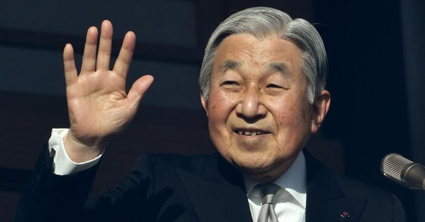 L'imperatore del Giappone Akihito abdica