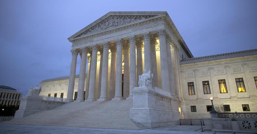 La sede della Corte suprema americana a Washington (Epa)