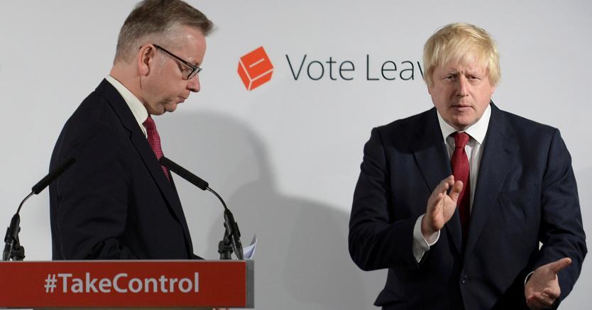Ministri  pro Brexit, Michael Gove (sinistra) e Boris Johnson