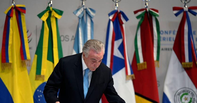 Michel Temer,  presidente del Brasile alla cerimonia di apertura della conferenza Wto