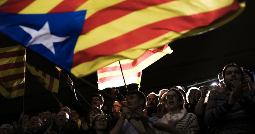 Campagna elettorale, una manifestazione per l'indipendenza a Barcellona