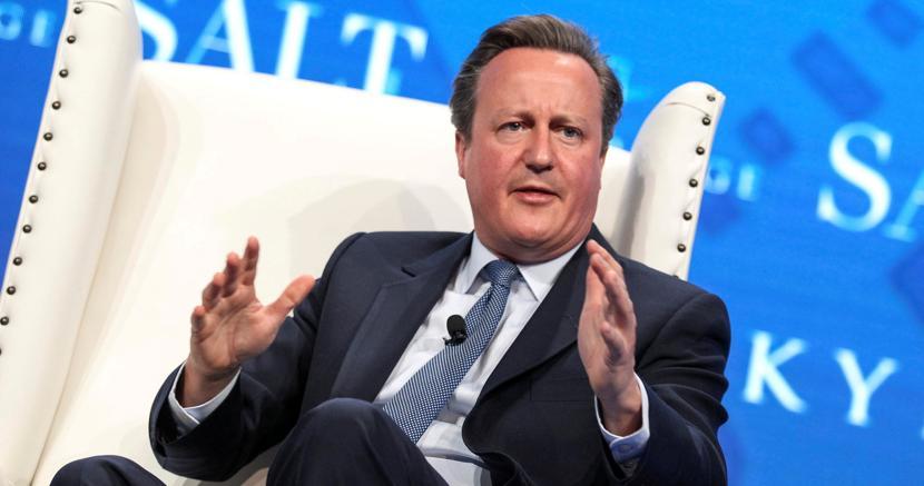 Redivivo. L'ex premier britannico David Cameron (Reuters)