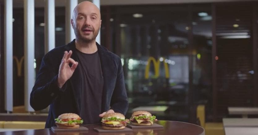 Joe Bastianich testimonial della «MySelection» di McDonald's