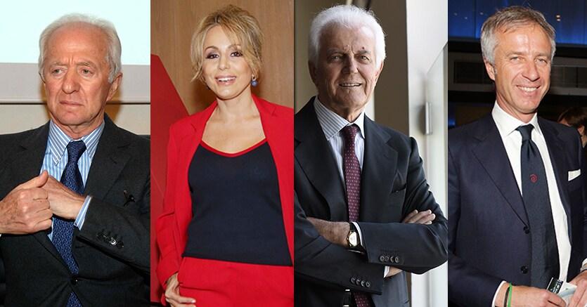 Del Vecchio, Berlusconi, Benetton e Pesenti