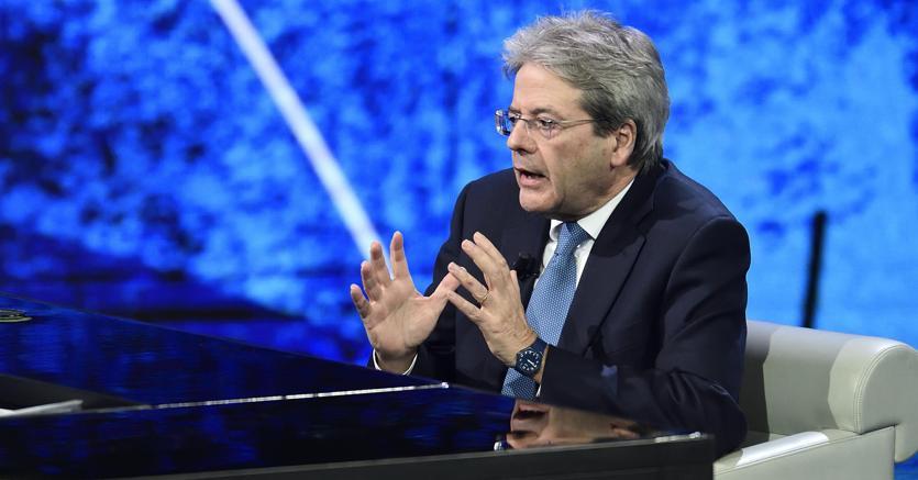 Il presidente del Consiglio, Paolo Gentiloni, a Che Tempo Che Fa
