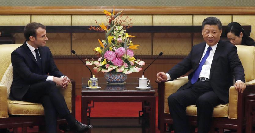 Macron in Cina punta sul clima