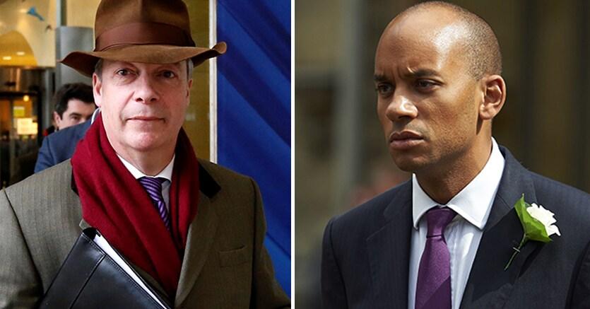 Nigel Farage  e Chuka Umunna