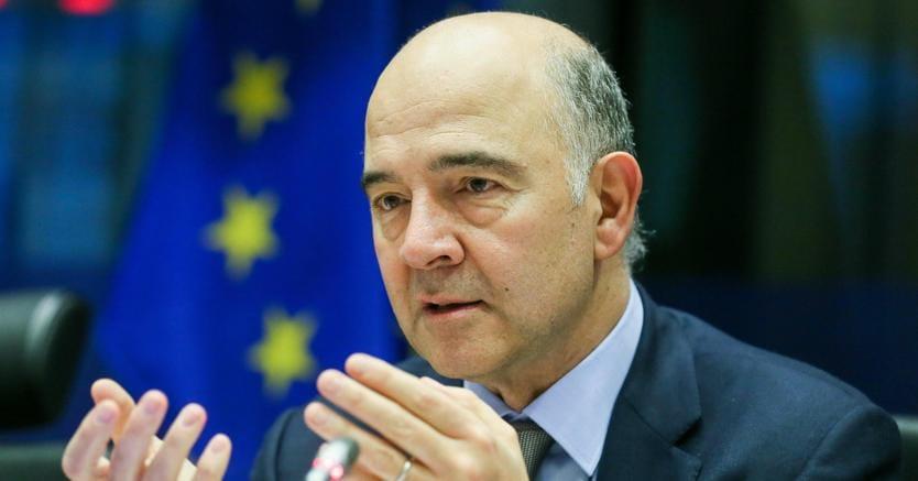 Il commissario Ue agli Affari economici, Pierre Moscovici (Epa)