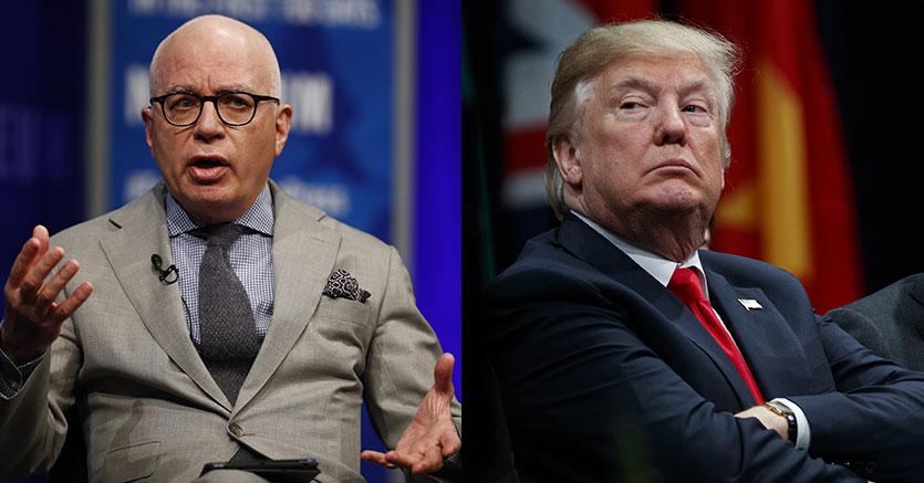 Michael Wolff (Ap) e Donald Trump (Ap)