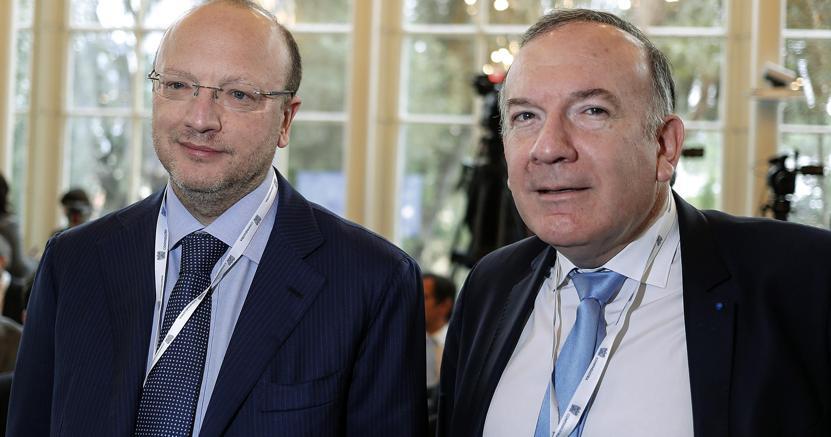 Vincenzo Bocci e Pierre Gattaz (Ansa)