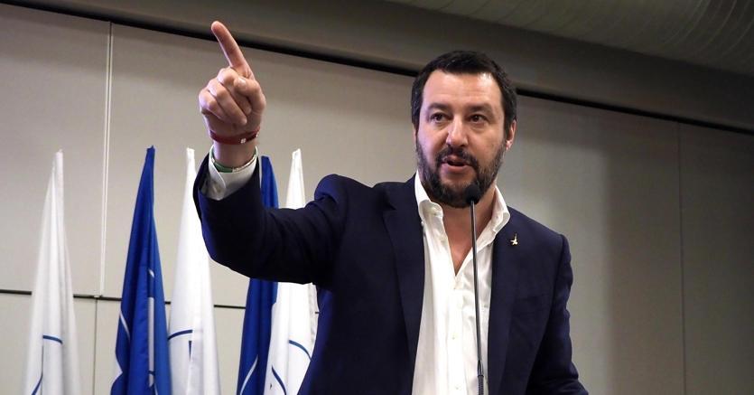 Il segretario della Lega Matteo Salvini (foto Ansa)