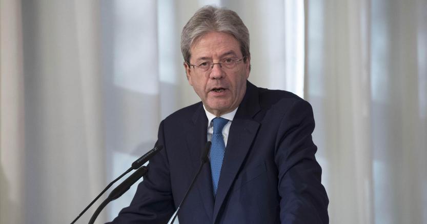 Il presidente del Consiglio Paolo Gentiloni (foto Ansa)