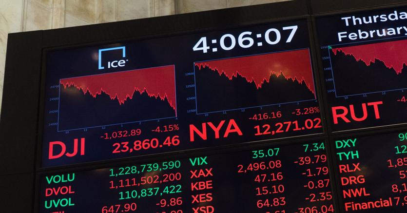 Tonfo Wall Street, Dj chiude a -2,55%