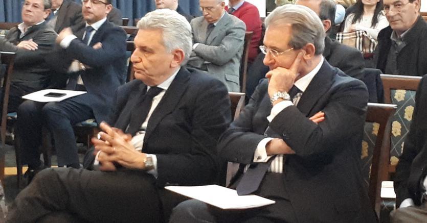 Il vicepresidente di Confindustria Maurizio Stirpe con il presidente di Unindustria Filippo Tortoriello (destra)