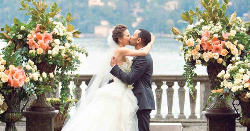 John Legend e Chrissy Teigen si sono sposati sul lago di Como